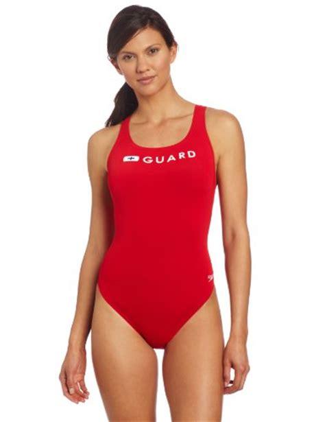 red swimsuit speedo womens guard super pro swimsuit red 32 11street
