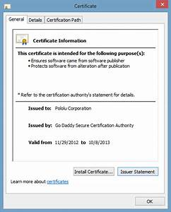 Verisign code signing certificate for Verisign document signing