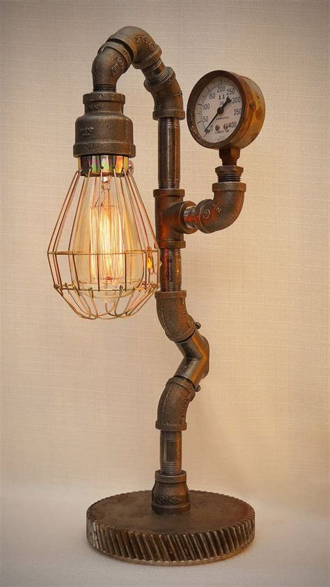 Iron Pipe Steampunk Industrial Lamp With Edison Filament