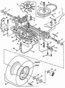 Snapper Lt140h38bbv 38 U0026quot  14 Hp Hydro Drive Tractor Series B Parts Diagram For Transmission Group