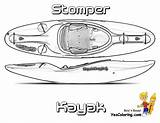 Coloring Kayak Boat Stomper Pages Yescoloring Fishing Boats Rugged Ship sketch template