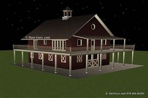 barns with living quarters plans joy studio design With 5 stall horse barn