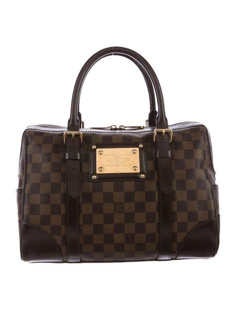 louis vuitton damier ebene berkeley bag handbags lou  realreal