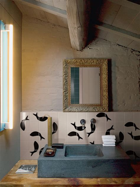 black and white animal print tiles by bardelli