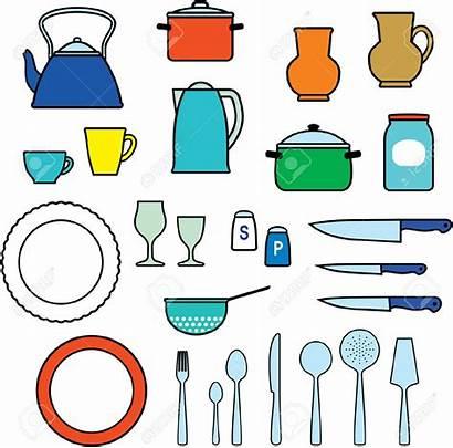Utensils Kitchen Clipart Cooking Kitchenware Dishware Clip