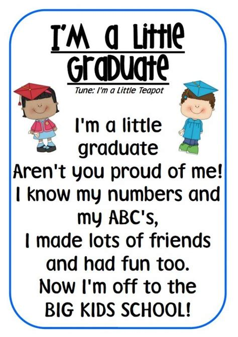 Following is her speech for the graduation ceremony. I'm A Little Graduate Poem   Graduation Day   Pinterest   Poems, Teaching and Helpful hints