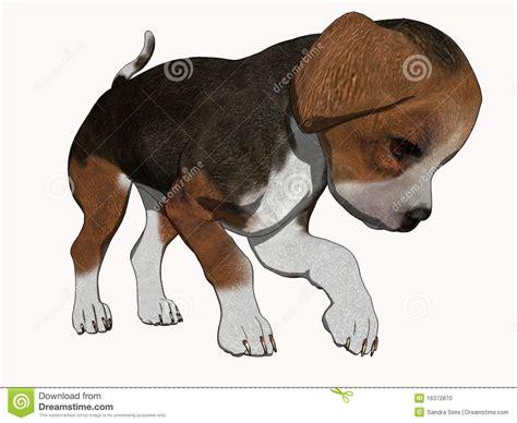 3d Cartoon Render Beagle Puppy Stock Illustration