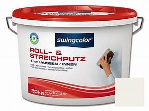 Roll Und Streichputz : swingcolor roll und streichputz 1 mm 20 kg wei ~ Frokenaadalensverden.com Haus und Dekorationen