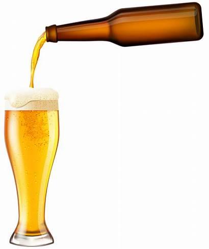 Beer Clip Bottle Clipart Transparent Cerveza Alcohol