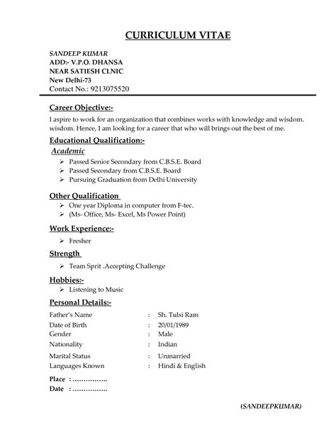 types of resumes formats it resume cover letter sle
