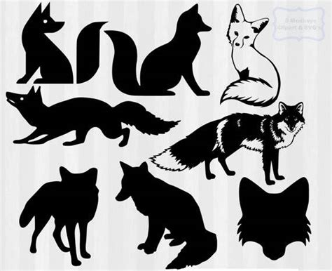 Free svg cut files for cricut and silhouette. Fox SVG Fox clipart fox svg cutting file fox silhouette