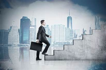 Stairs Cityscape Climbing Toned Investor Successful Mujer