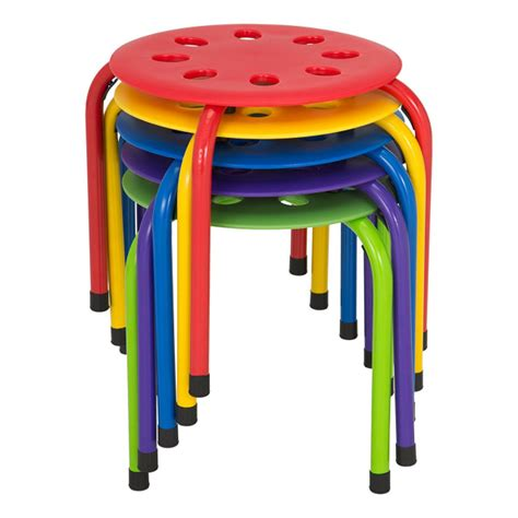 classroom stack stools  assorted  pack