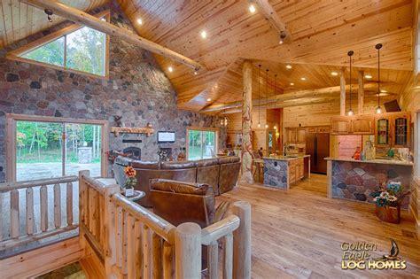golden eagle log and timber homes log home cabin custom hybrid 2