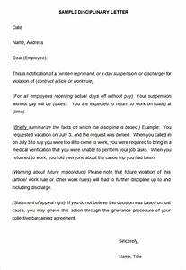 Writing A Professional Memo Disciplinary Write Up Samples Letters Free Sample Letters