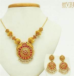 45 Grams VBJ Necklace - Jewellery Designs