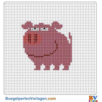 buegelperlen vorlagen von einem schwein zum herunterladen