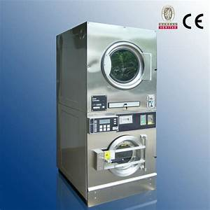 Commercial Stackable Coin Operated Washer And Dryer On