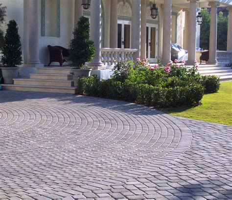 paving stone driveway design ideas digsdigs
