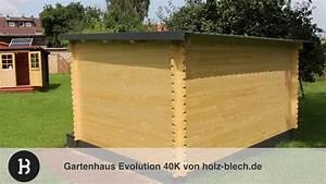 Gartenhaus Dach Blech : gartenhaus evolution 44 vorstellung holz youtube ~ Watch28wear.com Haus und Dekorationen