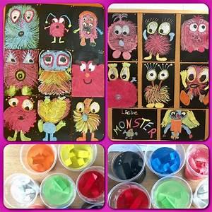 Malen Mit Kleinkindern Ideen : monster gemalt mit zuckerkreide kunstunterricht malen ~ Watch28wear.com Haus und Dekorationen