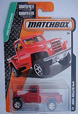 matchbox jeep willys 4x4 matchbox mbx explorers red jeep willys 4x4 84 120 no