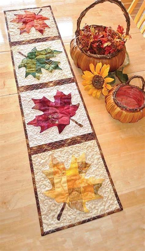 patchwork maple leaf table runner quilt kit runners