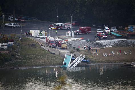 barge hits marina sets boats adrift  ohio river fire