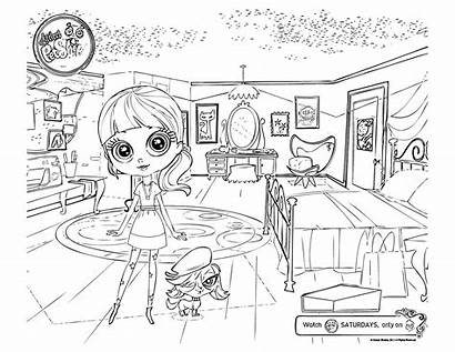 Coloring Pet Pages Littlest Printable Lps Zoe