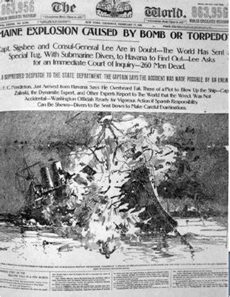 uss maine sinking newspaper my fav lesson set for yellow journalism s