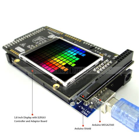 arduino 1 8 quot tft lcd touch shield w ili9163 library for mega due uno