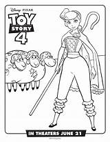 Toy Coloring Story Pages Peep Bo sketch template