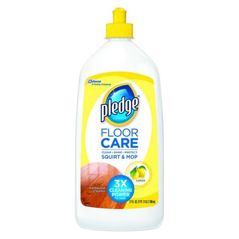pledge wood floor cleaner pledge 27 oz wood floor cleaner 081316 the home depot