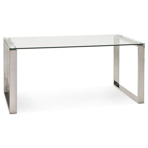 bureau design verre bureau droit table design et contemporain ingrid en verre