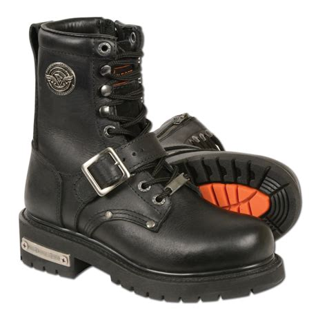 female motorbike boots mbl201 milwaukee leather women 39 s classic motorcycle boots