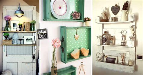 bureau recup une étagère à faire soi même avec des matériaux de récup