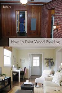 how to paint paneling How To Paint Wood Paneling | Young House Love