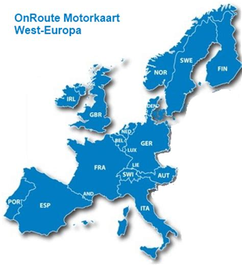 Carte Europe Ouest Garmin by Onroute Motor Carte Europe De L Ouest As Gps Services
