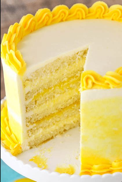lemon cake  lemon filling  lemon butter frosting