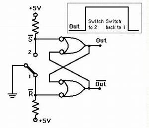 digital logic improving a push button debouncing circuit With push button switch to latching page 2