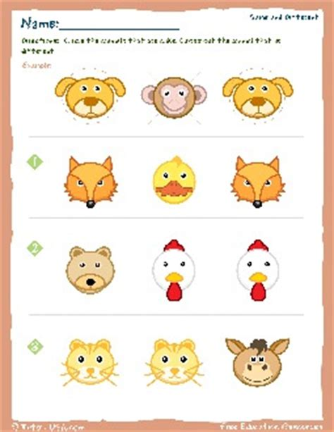 worksheet kindergarten    alike
