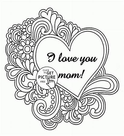 Coloring Mother Mothers Pages Mom Sheets Printables