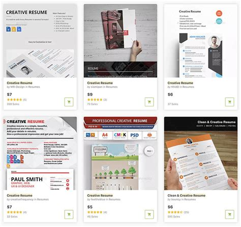 Visual Resume Templates by 20 Top Visual Resume Templates For Artists Creatives For