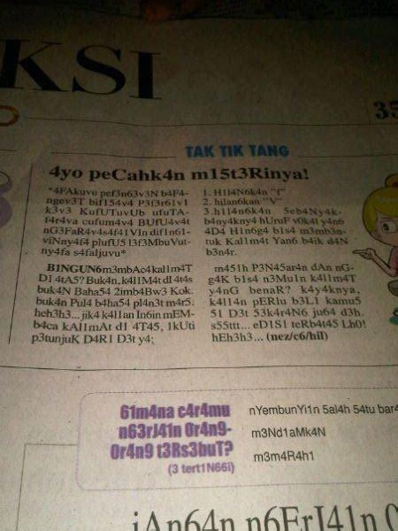 koran koran  memakai bahasa alay berita unik
