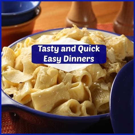 11 tasty and quick easy dinner recipes mrfood com