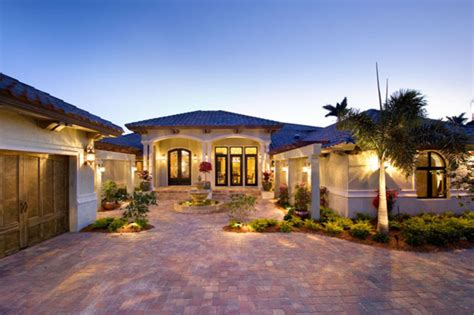 Mediterranean Style House Plan  4 Beds 35 Baths 4730 Sq