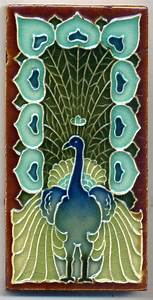 499 best peacocks images on pinterest peacocks peacock With art nouveau bathroom tiles