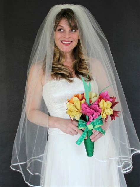classic wedding veil  tos diy