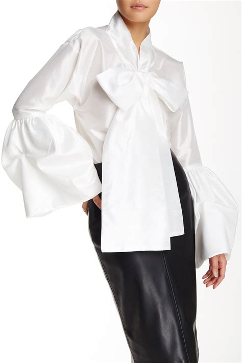bow sleeve blouse tov bell sleeve bow tie blouse nordstrom rack