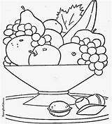 Salad Fruit Coloring Pages Drawing Spirit Kindness Sheets Colouring Vegetables Getdrawings Basket Bowl Sketch Template sketch template